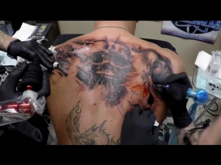 Carl Grace and Danny Lepore 8 hour tattoo collaboration