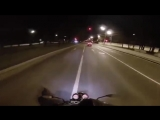 Honda cb600F 2003 hornet ,night Moscow ,first ride by Executor