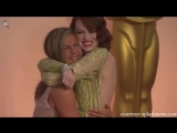 Jennifer Aniston Squeezes Emma Stone's Butt at Oscars 2015