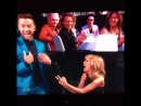 Taylor Swift wins Best Lyrics at the iHeartRadio Music Awards 2015 and freaks out with Justin Timberlake