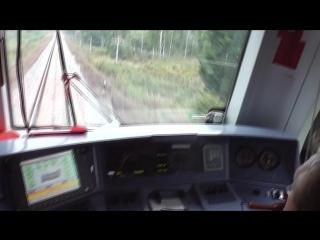 Участок Вичуга-Кинешма. Вид из кабины ТЭП70БС. Поезд Москва-Кинешма. Снимал MC Actava !!!