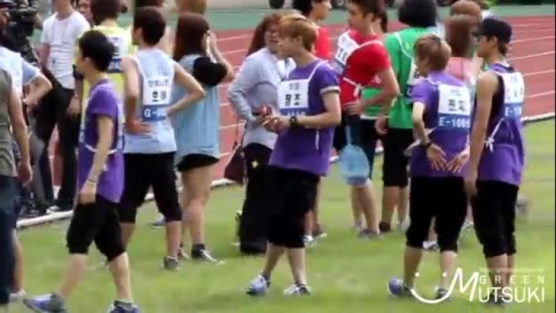110827 teen top chunji dancing to NMPOY @ idol sport day