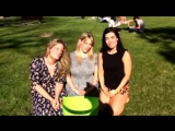 Virginia Gay, Katherine Hicks and Melanie Vallejo do the ice bucket challenge (finally)