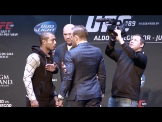UFC 189 Jose Aldo vs Conor McGregor - ALL STAREDOWNS