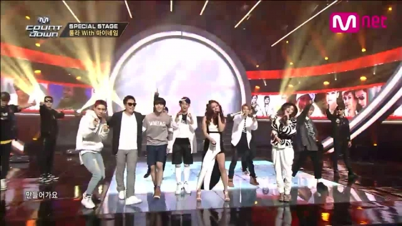 Roo'Ra - 3! 4! (feat. MYNAME) The Angel Who Lost Wings (feat. Rainbow) @ M! Countdown Mnet 20th Anniversary 150305