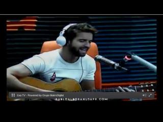 Pablo alborán visitó la radio ecuatoriana exa fm para promocionar su gira de conciertos tour terral 2015.
