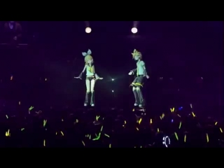 Len And Rin Kagamine - Purple Butterfly on your Right Shoulder ~ Project DIVA Live - eng subs