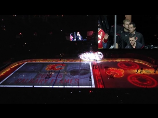 2014-15 calgary flames home opening 3d ice surface pre-game