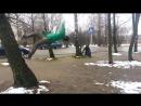"""обучение по заднему сальто от стены """"wallflip"""" (команда Free Tricks) паркур в Смоленске"""