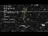 Five Nights at Freddy's 3 Меню
