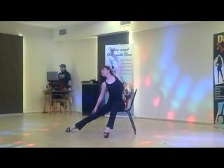 Абрамова Алёна. Dance Star Festival. Танец со стулом, соло, профи. 1 место.