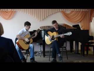 Демшин С Безуглов Н - To live is to die (Metallica acoustic cover)