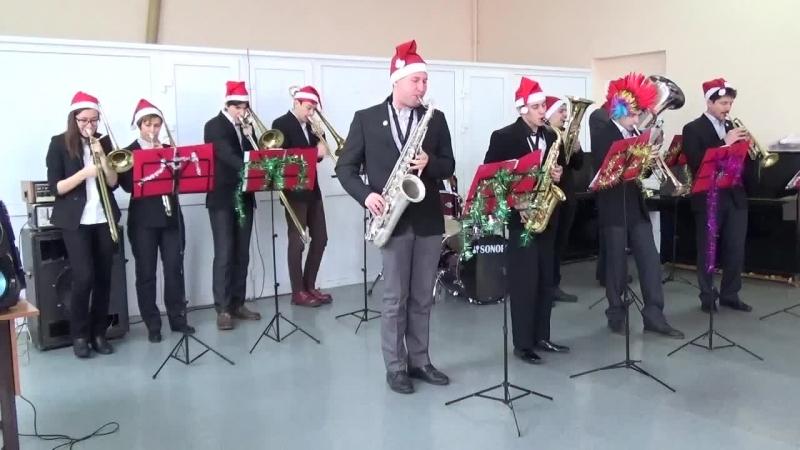 Новогодние выступление оркестра На Новый Год 2014 - 2015