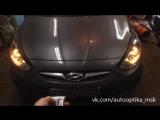 Установка RGB ангельских глазок на Hyundai Solaris