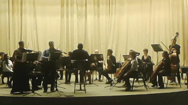 А.Вивальди Концерт для двух скрипок ре минор 2 ,3-я части.Струнный оркестр волгоградской консерватории им. П.А.Серебрякова , сол