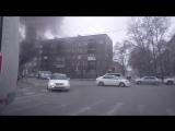 Загоревшаяся Lada Priora + Взрыв. 04.03.2015. (г.Абакан, ул.М.Жукова)