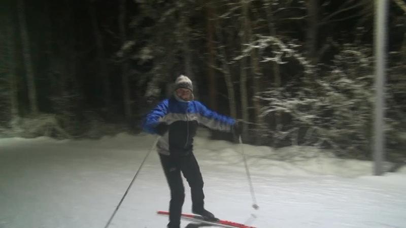Новый Год на лыжной освещёнке