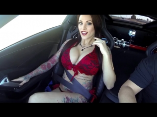 Sexy Girl Nikki Nichole ride in 600HP C7 Corvette Stingray_HD