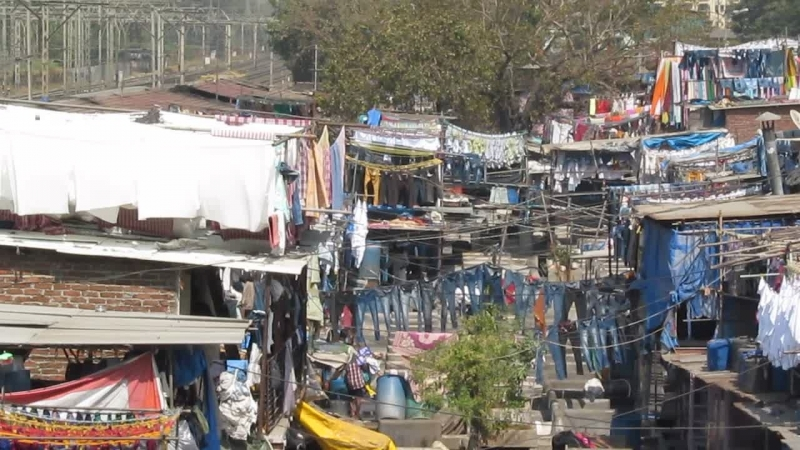 Прачечная Дхоби Гхат (Мумбаи)Dhobi Ghat, Mumbai.