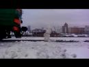 Снеговик на железке и злой машинист!