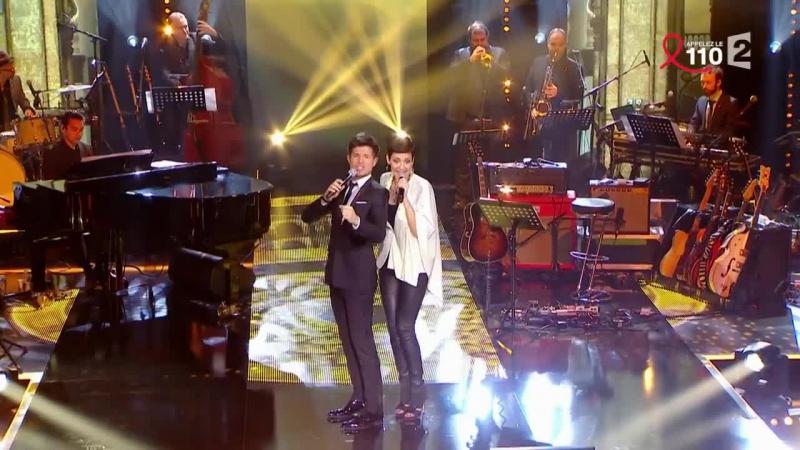Cristina Cordula et Vincent Niclo chantent C'est Magnifique