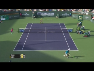 Rafael Nadal Vs Donald Young Indian Wells 2015 Highlights