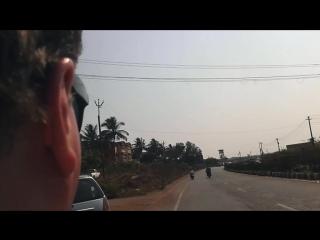 On a bike. Nerul Goa (small)