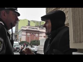 Ветеран - бомж и Президент Порошенко