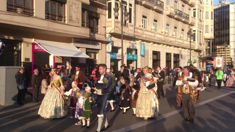 Эл desfile де Fallas 16 марта 2015