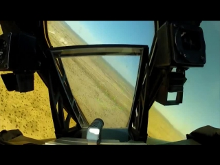 A-10 warthog in-cockpit video on training mission