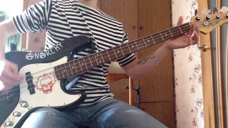 Ария - Улица Роз (bass cover)