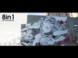 Стена с граффити, оживающая благодаря свету / Graffiti Mapping by SOFLES Brings Mural to Life