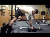тяга гири в наклоне. упражнение на широчайшие мышцы спины.
