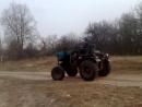 первый выезд на самодельном тракторе т25