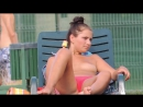 Загорает топлесс у бассейна | Sexy Topless Babes Tanning At The Pool