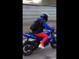 Когда твой мужчина доверяет тебе свой мотоцикл))Сашка))