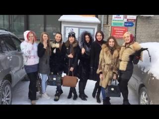 Поздравление финалисток Мисс Европа Плюс Новосибирск 2015 с 23 Февраля!