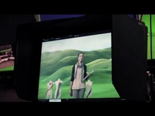 Рекламный ролик, снятый в хромакей павильоне