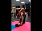 Акро йога .Оля и Лена (парная акробатика)