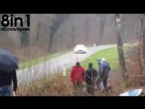 Везучие зрители на ралли  Lucky Spectators Escape Harm As Rally Driver Nearly Crashes Into Them  Rallye de Franche Comté 2015