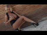 Cara Brett ∞ Strip Tease Set5 HD, шикарная девочка в черном боди обнажает грудь
