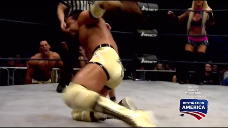 Робби И и Анджелина Лав пр. Брук Тессмакер и Крис Мелендез (27.02.2015, Impact Wrestling)