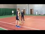 Глюкоза и Светлана Кузнецова играют в теннис (10.03.2015)