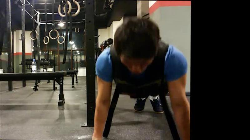 Тренировка 19 03 15г 22 30🕙 Подтягивание отжимание 21 кг спец жилет