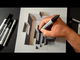 Drawing a Hole, Anamorphic Illusion, Trompe-l'oeil
