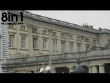 Голый мужик лезет по канату из скатертей из окна Букингемского дворца / NUDE NAKED man in Buckingham palace window escape