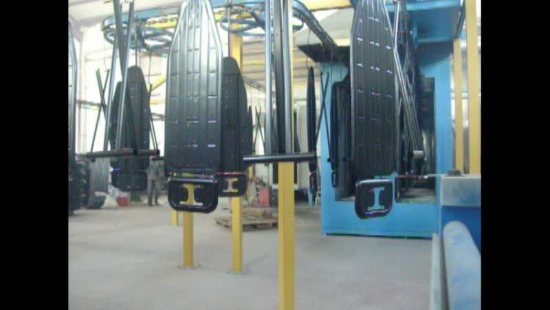 Makbes Makina - Electrostatic Powder Coating Line for Ironing Board