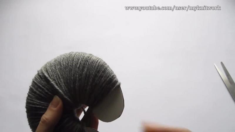 Как вязать шапку спицами. Вяжем шапку с бубоном.часть 3.