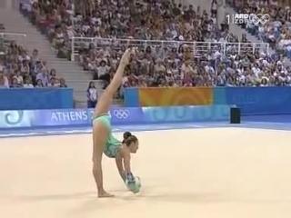 ОИ 2004. Индивидуальное многоборье. Алина Кабаева - мяч