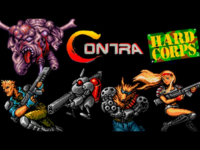 Contra Hard Corps SEGA Walkthrough (No Death, All Endings)